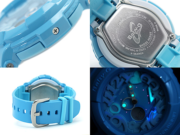 Casio baby G neon dial series an analog-digital watch aqua blue BGA-130-2BDR