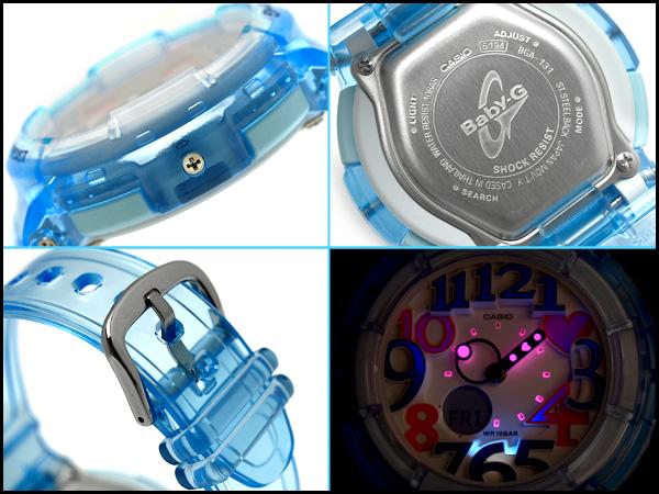 Pat Casio baby G lady's a; diwatch Jelly Marine Series clear blue skeleton BGA-131-2BDR fs3gm