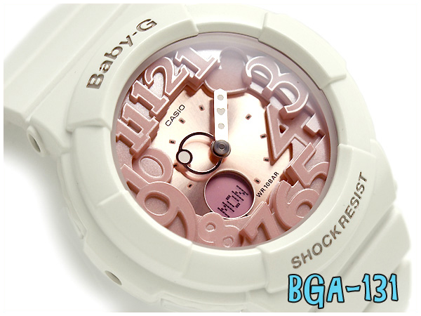 cadac8128df3 G-SUPPLY: Pat Casio baby G lady's a; diwatch Shell Pink Colors shell pink  colors ivory X pink BGA-131-7B2JF fs3gm | Rakuten Global Market