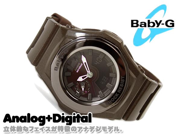 CASIO卡西歐小孩G Baby-G立體フェイスアナデジ手表棕色BGA-141-5BDR BGA-141-5B fs3gm
