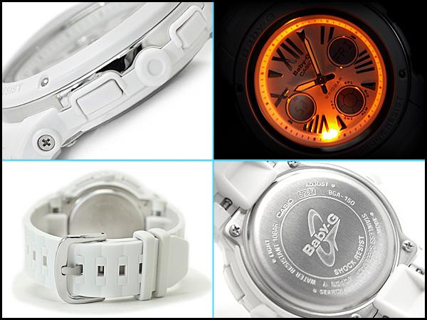 + Casio baby G imports overseas model レディースアナデジ watch White Dial white urethane belt BGA-152-7B1DR