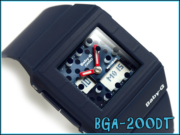 + Casio baby G CASKET casket an analog-digital watch dot pattern Navy BGA-200DT-2EJF