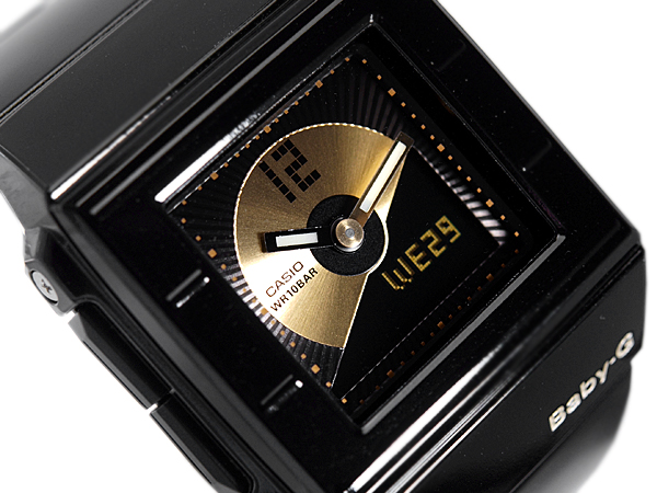 + CASIO baby-g Casio baby G Casket casket CD record motif model an analog-digital watch black BGA-201-1EDR BGA-201-1