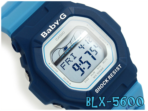 Casio baby G digital watch blue x sky blue BLX-5600-2JF