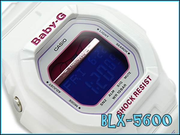 Casio baby G G-LIDE G ride ladies digital watch white / pink BLX-5600-7DR