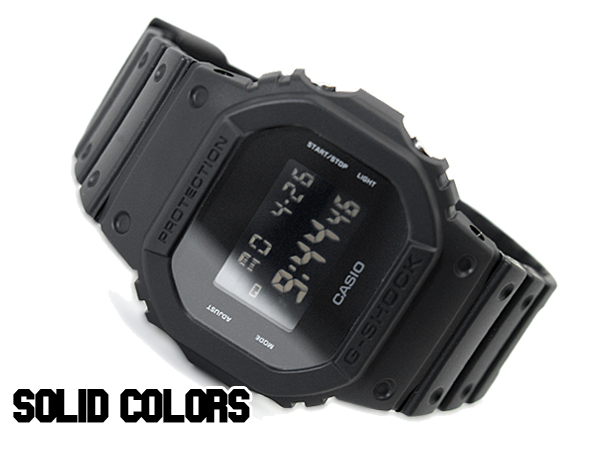 凱西歐凱西歐 g 衝擊 G 休克 6600 g 衝擊 g 休克純色純色觀看全黑的 DW-5600BB-1 博士