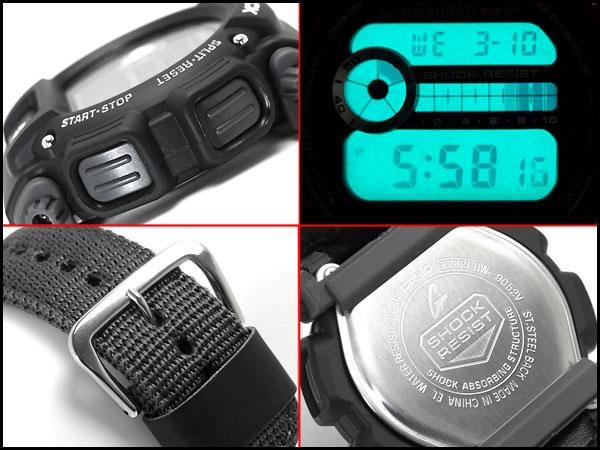 """凱西歐 g 震撼凱西歐 G 衝擊""""日本沒有公佈海外模型基本模型數位手錶黑色尼龍跨-倉庫-9052V-1CR DW-9052V-1"""