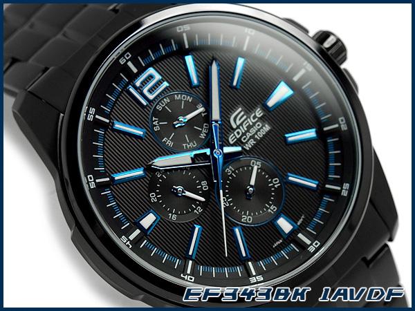 g supply rakuten global market casio overseas model edifice casio overseas model edifice analog multifunction mens watch stripe black metallic blue black ef