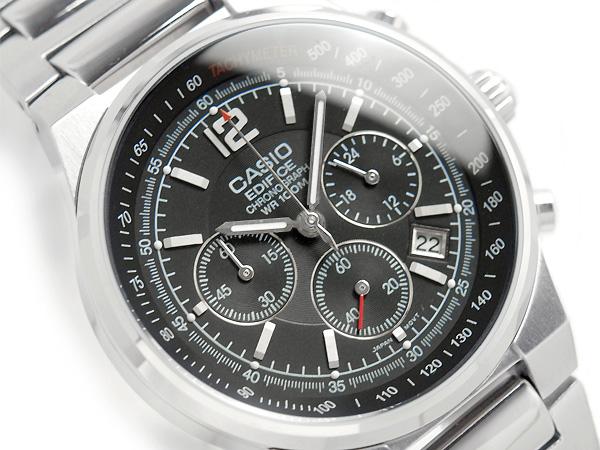 f1481d91df31 G-SUPPLY  Casio overseas model edifice chronograph mens watch black dial  silver stainless steel belt EF-500D-1AV
