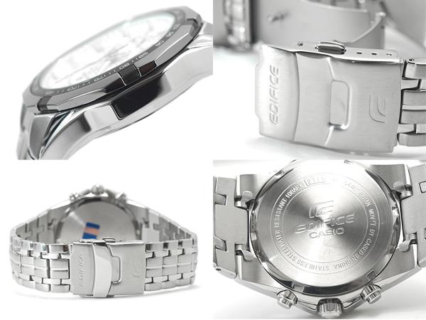 CASIO EDIFICE卡西歐海外moderuedifisumenzukuronogurafu手錶白銀子EF-540D-7AVDF EF-540D-7
