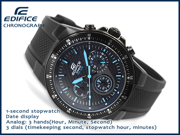 fd6a2edc2be1 ... + CASIO EDIFICE Casio overseas model edifice men s Chronograph Watch  black blue EF-552PB- ...