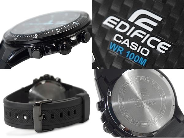 CASIO EDIFICE卡西歐海外moderuedifisumenzukuronogurafu手錶黑色藍色EF-552PB-1A2VDF EF-552PB-1A2