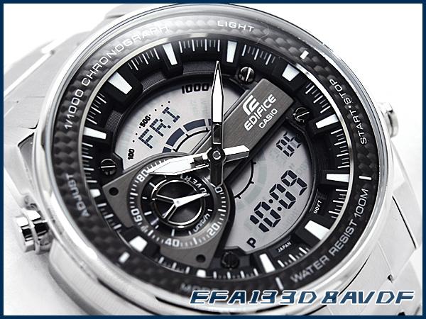 g supply rakuten global market casio overseas model edifice casio overseas model edifice chronograph mens watch an analog digital gray dial silver stainless