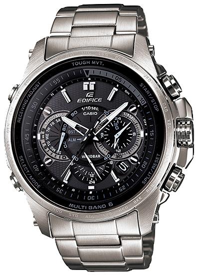 kashioedifisu CASIO EDIFICE電波太陽能電波鐘表人手錶黑色銀子EQW-T720D-1AJF