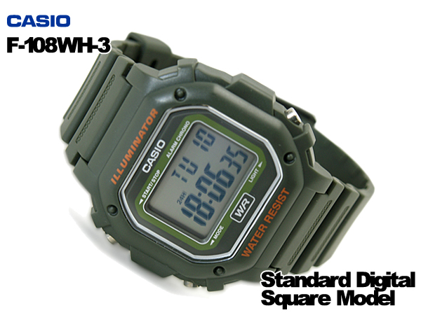 凱西歐手錶凱西歐窪-F-108WH-3ACF