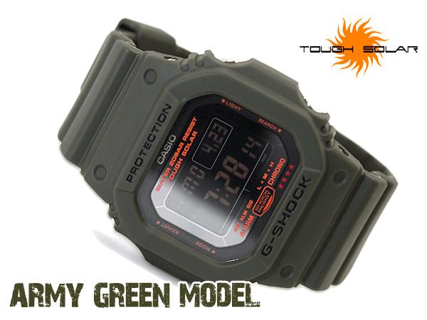 凱西歐凱西歐 g 衝擊 G 的震撼 6600 g 衝擊 g 衝擊軍綠軍綠色太陽能手錶 G-5600 公斤-3 博士