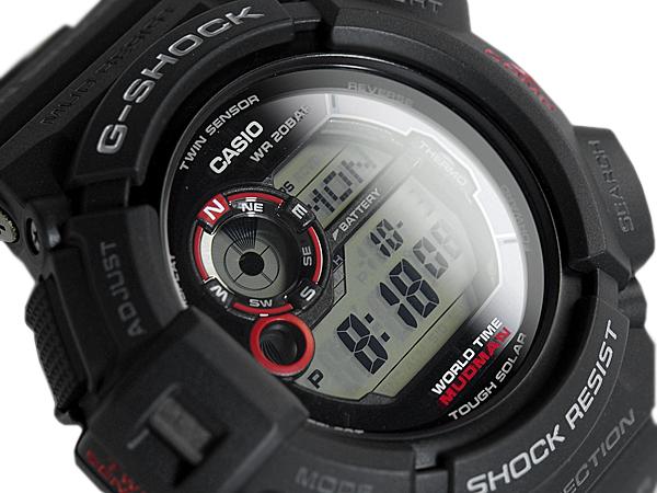 "+ G G 休克休克""凱西歐凱西歐 MUDMAN 瘋子數位手錶黑 G-9300-1 博士"