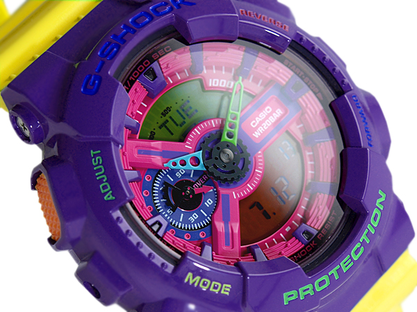 f9385823c G-SUPPLY: G shock 6600 g-shock CASIO Casio ハイパーカラーズ an analog-digital watch  Pink Purple yellow GA-110 HC-6 GA-110HC-6ADR | Rakuten Global Market