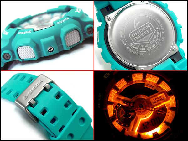 카시오 역 수입 G 충격 해외 모델 디지털 시계 Breezy Colors ブリージーカラーズ 에메랄드 블루 우 레 탄 벨트 GA-110SN-3ADR