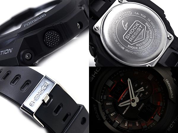 + 凱西歐 g 衝擊凱西歐重新導入 G 休克海外模型類比-數位手錶黑色液體聚氨酯皮帶 GA-150-1ADR