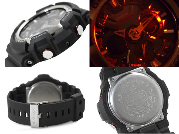 G-shock G shock 6600 g-shock g shock an analog-digital watch black matte silver GA-200-1ADR