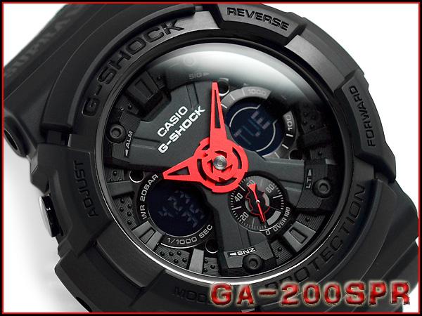 """G GA-200SPR-1AJR g-休克""""凱西歐 gshock 凱西歐手錶"""
