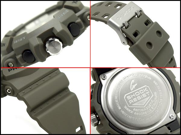 카시오 G 쇼크 해외 역 수입 모델 크로 노 그래프 아날로그 남자 시계 회색 GAC-100-8ADR