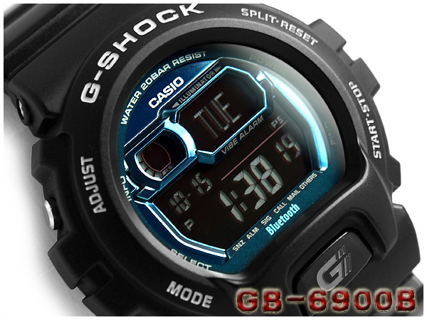 ad44992c0 G-SUPPLY: Casio G-Shock Bluetooth watch digital men watch black X metal  blue GB-6900B-1BJF fs3gm | Rakuten Global Market