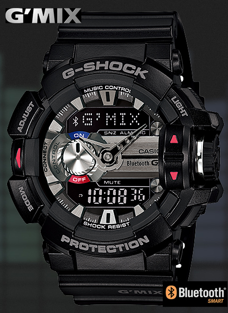 46d7f1bfc6a CASIO G-SHOCK Casio G ショックジーショック G MIX Bluetooth スマフォ cooperation モデルアナデジ  watch black GBA-400-1AJF