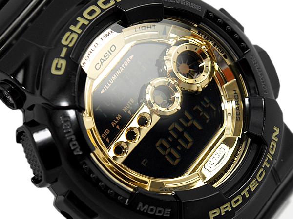 0d8fd229df402 G shock 6600 g-shock CASIO Casio Black×Gold Series limited edition Digital Watch  black gold GD-100GB-1DR-GD-100GB-1