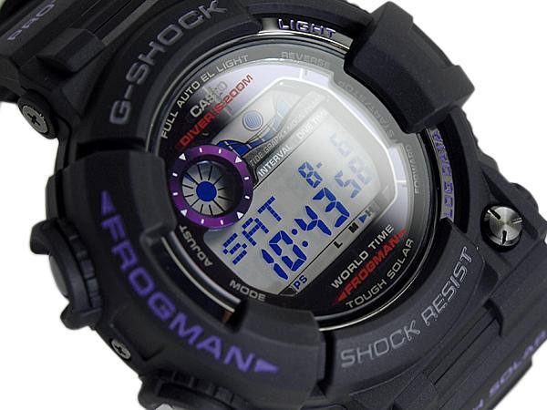 """G G 休克休克""""凱西歐凱西歐蛙人蛙人太陽能數碼觀看紫黑色 GF-1000BP-1 博士"""