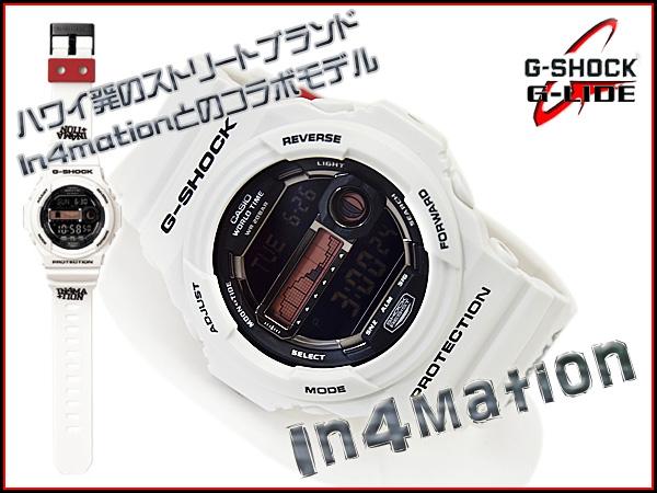 男子的卡西歐G打擊海外返銷進口型號G-LIDE G騎潮圖表白×黑色數碼手表GLX-150X-7DR fs3gm