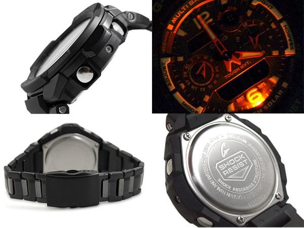 """G-shock G shock """"CASIO Casio sky cockpit radio solar an analog-digital watch black orange GW-3500BD-1A"""
