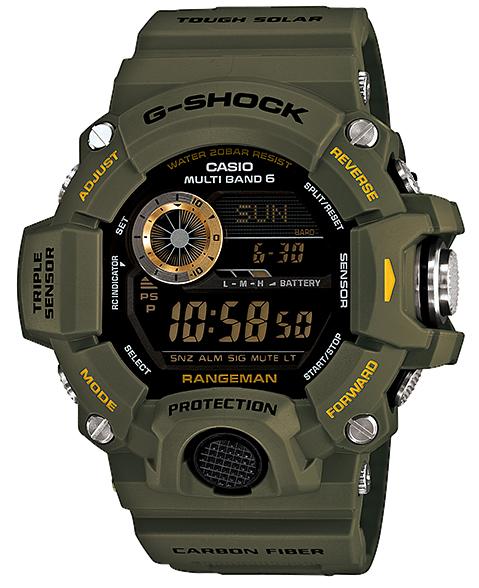 凱西歐 G 休克等凱西歐 g 休克頭兒波太陽射電手錶手錶男裝大師的 G GW-9400J-3JF