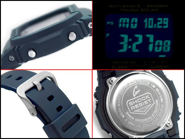 凱西歐太陽能波數位手錶海軍藍色海軍藍色聚氨酯皮帶 GW-M5610NV-2JF fs3gm