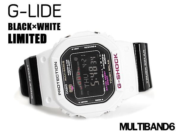 G손크지손크 G-SHOCK CASIO 카시오 G-LIDE G놀이 기구 한정 모델 전파 솔러 디지털 손목시계 블랙×화이트 GWX-5600 B-7