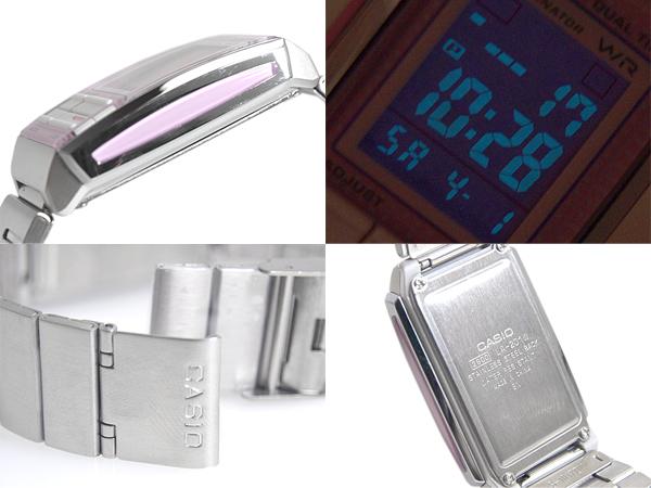 + Casio Futurist ladies digital watch Pink Silver la-201W-4 A3DF