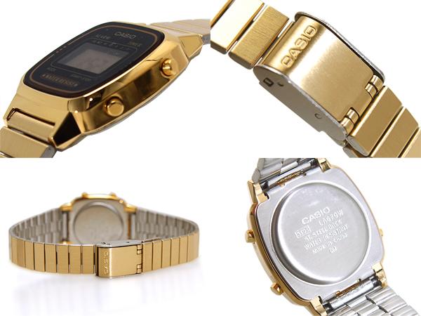 女子的卡西歐標準規格型號返銷進口海外型號黑色黄金數碼手表LA-670WGA-1DF fs3gm
