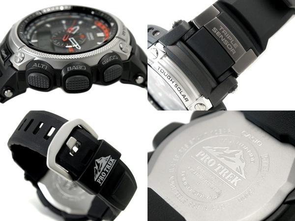 Casio foreign countries model proto Lec triple sensor electric wave ソーラーアナデジ watch urethane belt PRW-5000-1 PRW-5000-1ER fs3gm