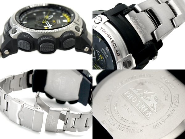 Casio overseas model protrek triple sensor radio solar an analog-digital watch Titan belt PRW-5000T-7 PRW-5000T-7ER