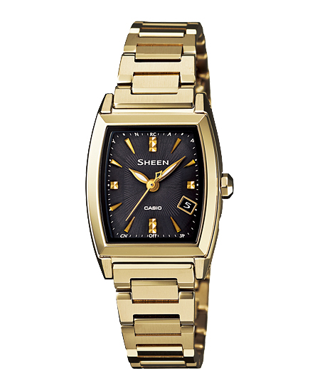 Casio scene Lady's watch electric wave solar champagne gold brown SHW-1503GD-1AJF fs3gm
