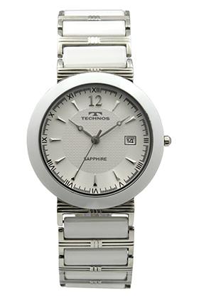 【テクノス】【TECHNOS】【送料無料】【訳あり:A】【アウトレット】【正規品】【腕時計】TECHNOS/テクノス T7600TW セラミック&ステンレス 腕時計 メンズ ホワイト