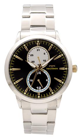 【テクノス】【TECHNOS】【訳あり:A】【アウトレット】【正規品】【腕時計】TECHNOS/テクノス T9630SH オールステンレス マルチファンクション 腕時計 メンズ ブラック×ゴールド