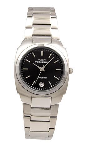 【テクノス】【TECHNOS】【送料無料】【訳あり:A】【アウトレット】【正規品】【腕時計】TECHNOS/テクノス T9657CB タングステンベゼル 三針 腕時計 メンズ ブラック
