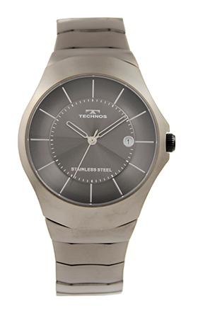 期間限定で特別価格 贈物 テクノス腕時計 オールステンレスの三針 カレンダー付き テクノス TECHNOS 送料無料 訳あり:A アウトレット 三針 正規品 T9687EE オールステンレス ガンメタル 腕時計 メンズ