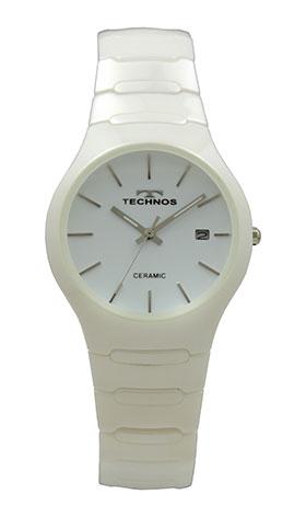 【テクノス】【TECHNOS】【訳あり:A】【アウトレット】【正規品】【腕時計】TECHNOS/テクノス T9660TW セラミックケース&ベルト 三針 腕時計 メンズ ホワイト