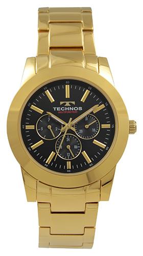 通販 激安 テクノス腕時計 10%OFF オールステンレスのマルチファンクション時計 テクノス TECHNOS 送料無料 訳あり:A アウトレット 正規品 オールステンレス ゴールドベルト ブラック×ゴールド T9699GB 腕時計 マルチファンクション メンズ