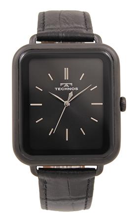 【テクノス腕時計】シンプルな牛革ベルトの三針時計 【テクノス】【TECHNOS】【送料無料】【訳あり:A】【アウトレット】【正規品】【腕時計】TECHNOS/テクノス T9A41BB 三針 牛革ベルト 腕時計 メンズ ブラック/ブラックケース