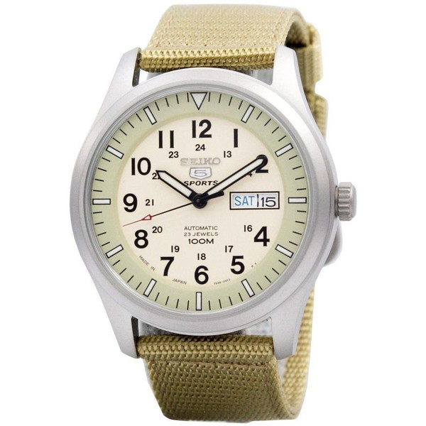 [セイコー]SEIKO 腕時計 5 MILITARY AUTOMATIC ミリタリー オートマチック SNZG07J1 メンズ [並行輸入]