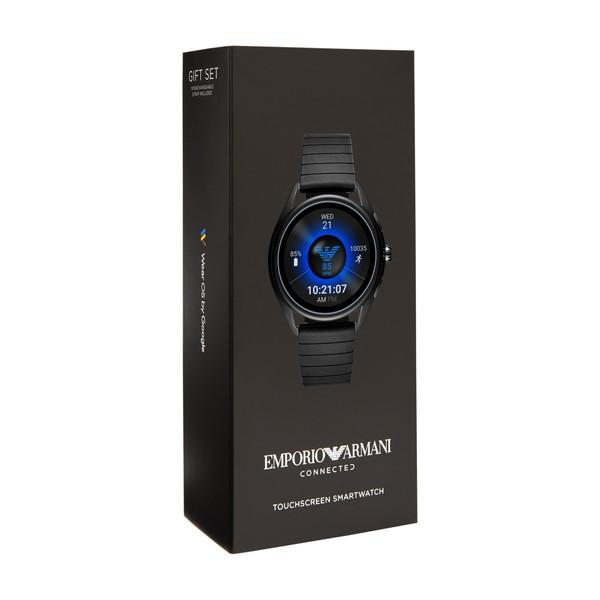 ART5017 43mm 2年 春の新作 タッチスクリーン 腕時計 Smartwatch 公式 アルマーニ <10%OFFクーポン配布中/27日まで> EMPORIO ARMANI iphone android 保証 ウェアラブル エンポリオ 『父の日 ショッパープレゼント』 2019 対応 メンズ スマートウォッチ